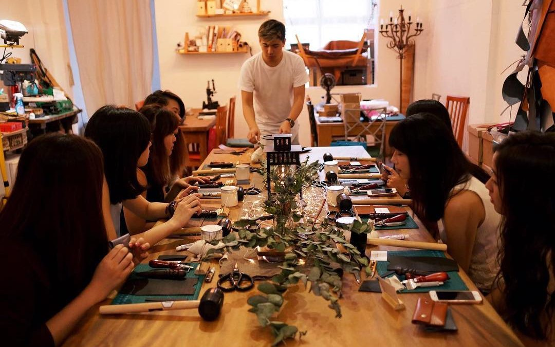 Leather Workshop Singapore; A Purposeful Team Building Craft